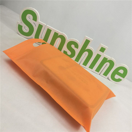 Environmental PP Spunbond Nonwoven Fabric D-cut Bag Non Woven Shopping Bag