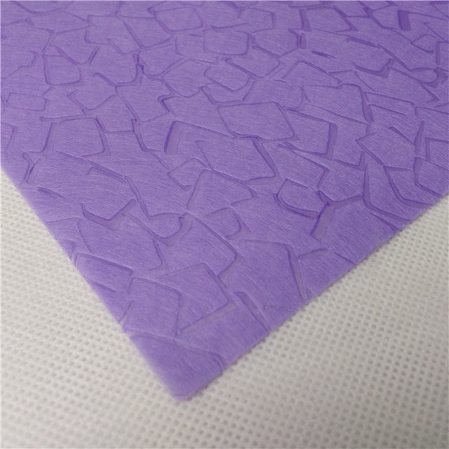 Stone pattern embossed non woven fabric for packing bag and gift material