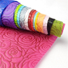 Flower wrapping nonwoven material colorful rose design Embossed nonwoven fabric