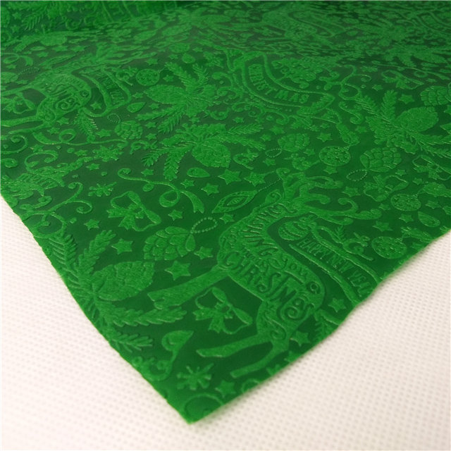 Sunshine Christmas design embossed nonwoven fabric manufacture gift and flower wrapping roll