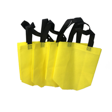 2021 new Yellow Handle Bag Pp Non Woven Fabric for Shopping Bags