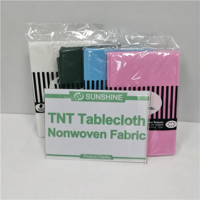 Hot Sale Non Woven TNT Nonwoven Tablecloth Fabric Pp Spunbond