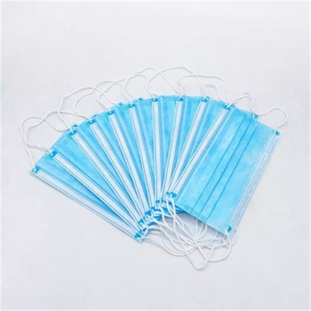 Low price wholesales disposable three ply common disposable facemask