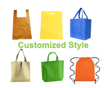 Customized multi-color non-woven bags environmental friendly shopping bags can be printed with LOGO